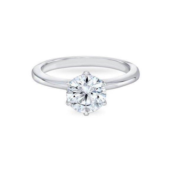 Jewelry - 1.25 carat prong set CVD diamond White gold 14k